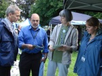 David and Cllr Ahmed chatting to stall holders
