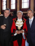 David with the Mayor of Bury Councillor Peter Ashworth and the Rector of Bury John Findon