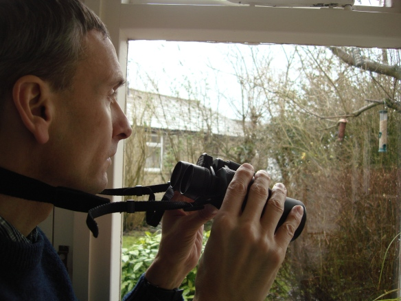 David taking part in the Big Garden Birdwatch