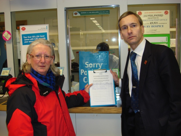 Please call in to sign the petition at Ramsbottom Post Office