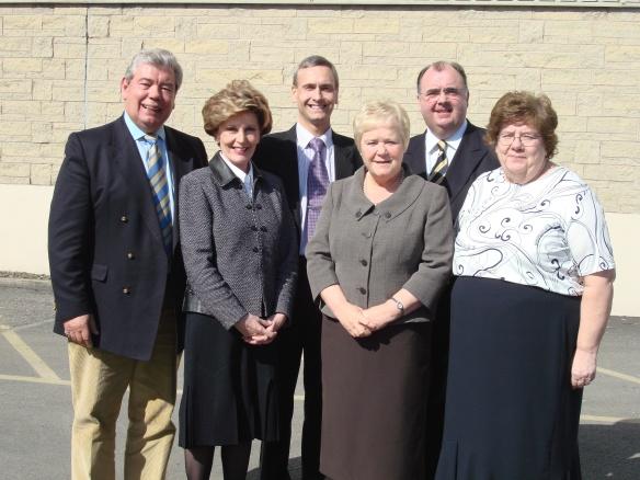 l-r Sir David Trippier, Jacquie Foster, David Nuttall, Cllr Diana Ashworth, Cllr Barry Theckston, Cllr Sheila Magnall