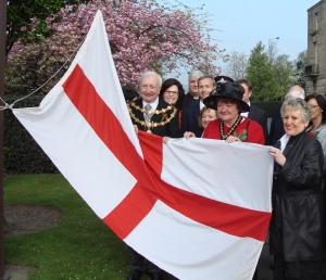 David at the St Georges Day flag raising ceremony
