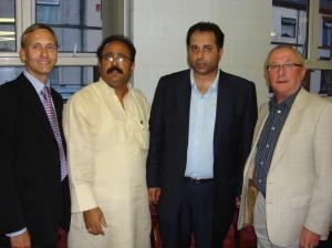 David Nuttall, Azmat Husain, Saj Karim MEP, Councillor Bob Bibby