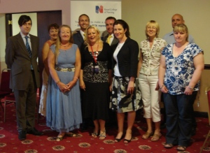 David with members of the Greater Manchester branch of the Royal College of Nursing and other guest speakers