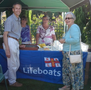 David with members of the Bury Ladies Guild of the RNLI