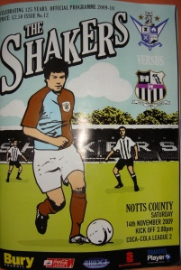 Bury v Notts C Programme 002REV