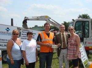 David with Helen and Chris Barlow from Constructive Driveways and Kate Brooks and Elaine Brown from Home Start Bury