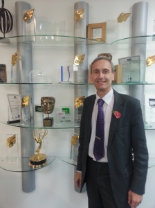 David with the impressive C4 news 'trophy cabinet'