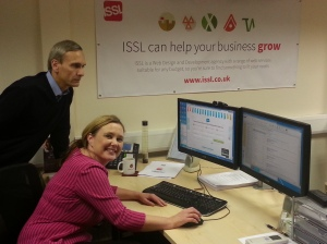 David with ISSL Director Lisa Spann